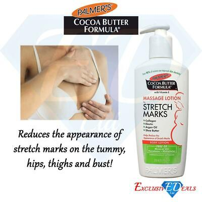 Palmers Stretch Marks Body Lotion Cream Massage Cocoa Butter Argan