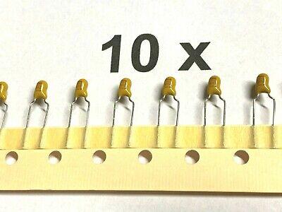 10 Stück Tantal Kondensator 1uF 35V 2 Pin Radialbeschichtung Tantalkondensatoren