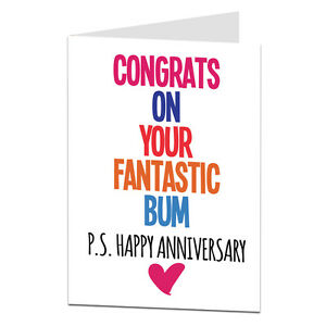 Happy anniversary card for wife girlfriend rude naughty funny image is loading happy anniversary card for wife girlfriend rude naughty m4hsunfo