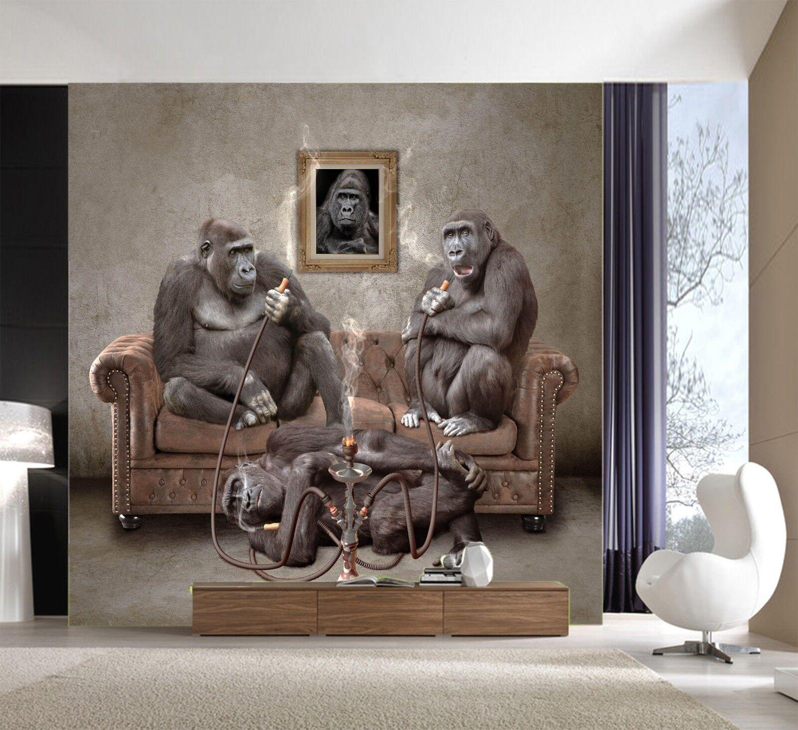 3D Orangutan Animal 96 Wallpaper Mural Wall Print Wall Wallpaper Murals US Lemon