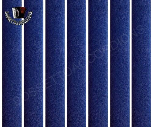 350 inches Accordion BELLOWS TAPE BLUE PLAIN Roll 24mm x 8.89m