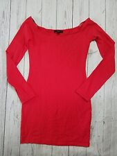 Forever 21 Women's Red Long Sleeve Bodycon Dress Size Small (B15)