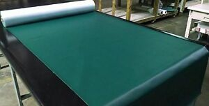 "15 YARDS HUNTER GREEN MARINE OUTDOOR AUTO FABRIC BOAT UPHOLSTERY 54""W VINYL"
