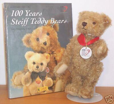 Steiff Steiff Steiff orso Collectible Presents Teddy orso with libro 374825
