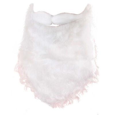 Santa Claus Father Christmas White Beard And Moustache Mens Fancy Dress Xmas