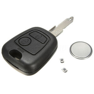 2-Bouton-Coque-Plip-Cle-Telecommande-Pour-Peugeot-106-107-206-207-306-307-406