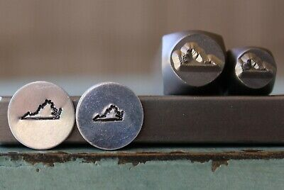 SUPPLY GUY 6mm//8mm California US State Metal Punch Design 2 Stamp Set SGCH-327CA