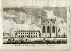 View-Of-Eton-College-IN-Buckinghamshire-Engraved-IN-1799-By-The-Modern-Universal