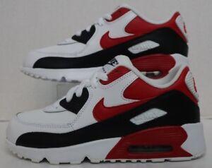955636f0f5 Nike Air Max 90 LTR (PS) White/University Red-BLack 833414-107 ...
