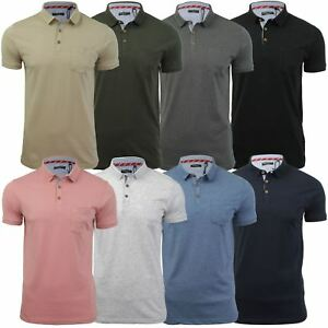 Mens-Polo-T-Shirt-by-Brave-Soul-039-Julius-039-Short-Sleeved