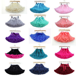 Girls Ballerina Petticoat Layers TUTU RARA Skirt Fancy Dress Dance 32 Colours UK