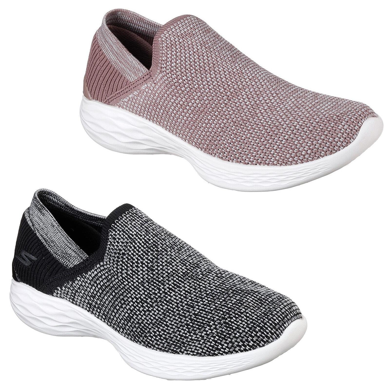 Skechers You - Rise Trainers 14958 femmes  Memory Foam Lifestyle Flats  Chaussures