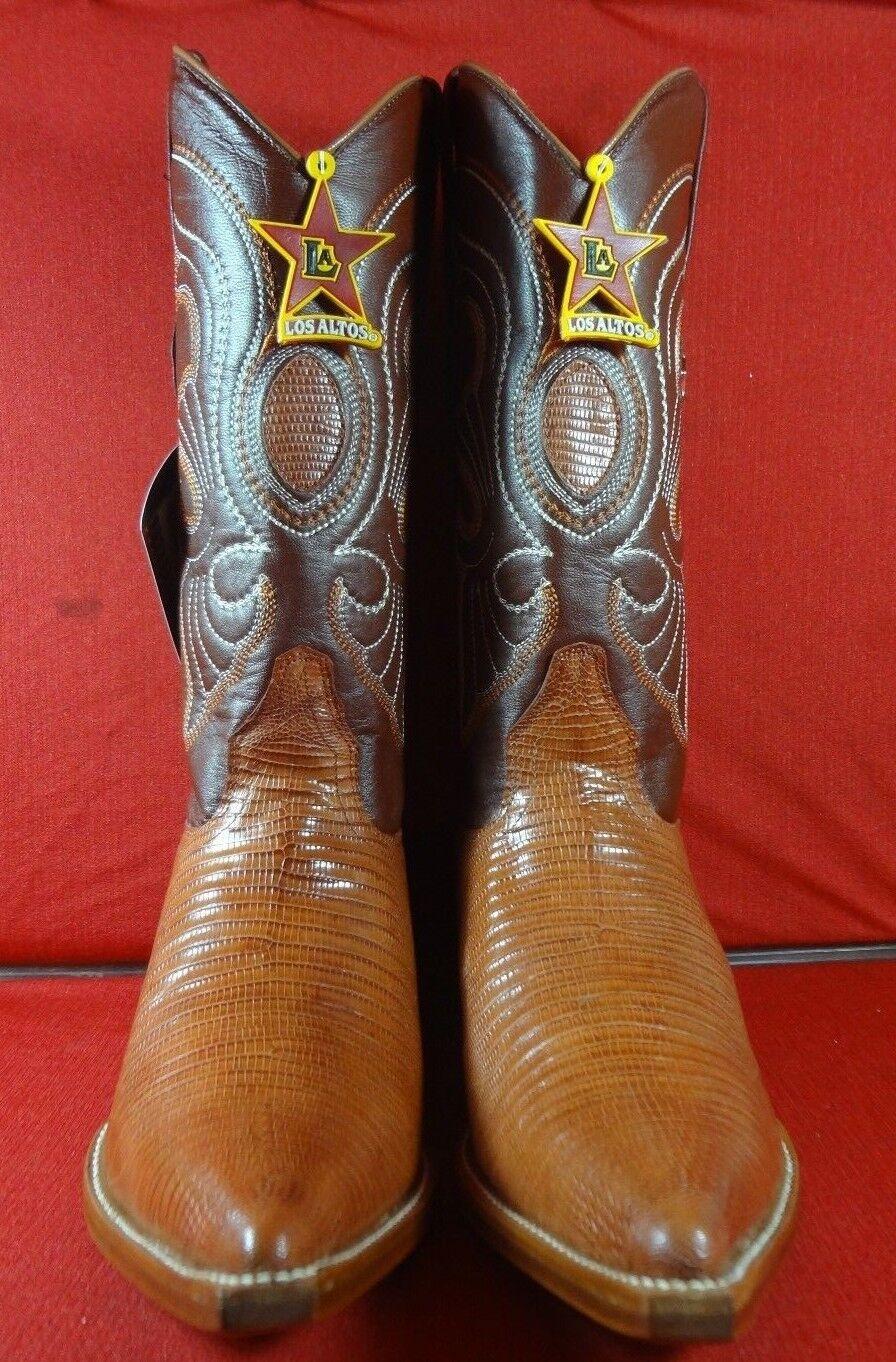 Exótico Genuino Teju lagarto botas de vaquero occidental (C61)
