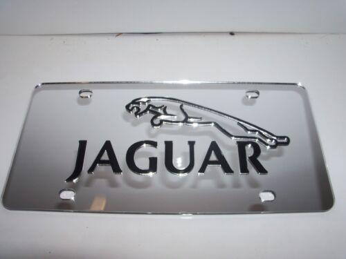 Jaguar License Plate Silver//Black NEW!!