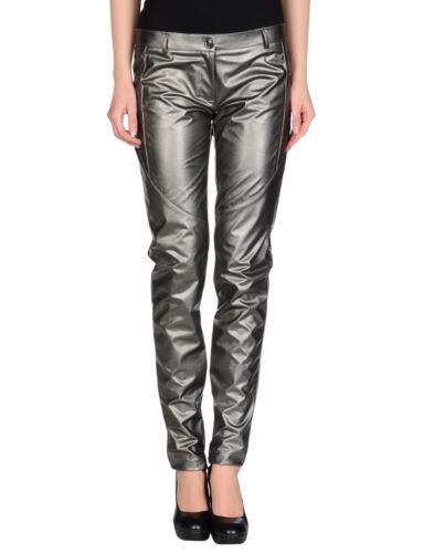 Metallic Faux Grå W32 Mørk Leather W32 Bukser Grey Jeans Pinko Cara Faux Metallic Bukser Dark Pants Cara Jeans Trousers Pinko Læder 7zZxwEtq