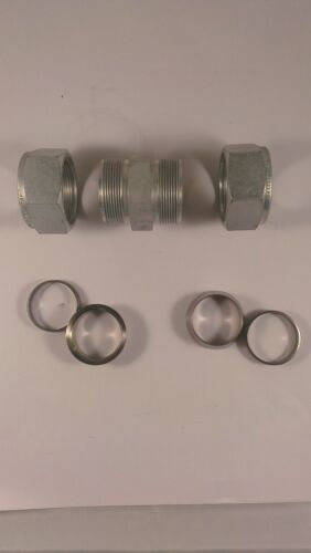 Tube OD Carbon Steel Swagelok Tube Fitting Lot of 5 Union 1 in