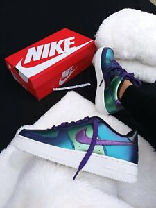 Nike Air About Sneakers One 1 6 Force Multicolor Metallic Blue Silver Womens 5y8 Details R4AqL35j