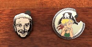Walt-Disney-amp-Tinker-Bell-Pirate-Lapel-Pins-Lot-Of-2-PinTrading-amp-50th-2007