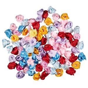 100PCS-Lot-Mini-Handmade-Satin-Rose-Ribbon-Rosettes-Fabric-Flower-Appliques-Z6G4