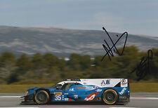 Ho-Pin Tung, Nelson Panciatici mano firmado Nissan 12x8 Foto 2016 Le Mans CME 1.