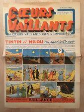 HERGE - TINTIN - COEURS VAILLANTS numéro 52 ( 29 décembre 1940)