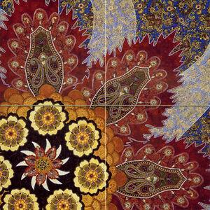 Art Decor Colorful Mural Ceramic Backsplash Bath Tile #728