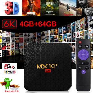 6K 4+64G 32G MX10 MAX Android 9.0 Smart TV BOX Keyboard 5G WLAN BT Media Player