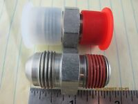 "(2) ½"" Male Pipe Connector Adaptor Npt To An 8 Tube Parker Triple-lok 8-8ftx-s ["