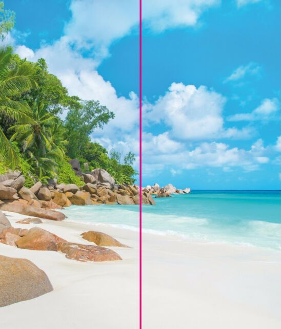 Eck Duschrückwand Rückwand Dusche Alu Fliesenersatz Motiv Karibik Bucht