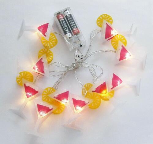 Fairy Lights 10x LED Foil Garland Lighting Light Lamp Party 5 Motifs