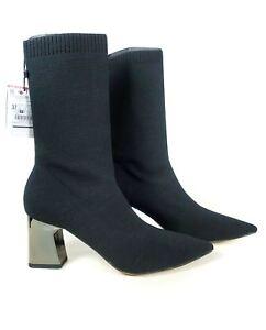 a7820d6e03a Trwa ładowanie zdjęcia Zara-Women-Fabric-high-heel-ankle-boots-with-