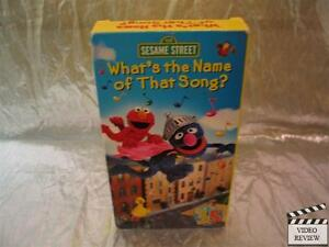 Sesame Street What S The Name Of That Song Vhs Ebay