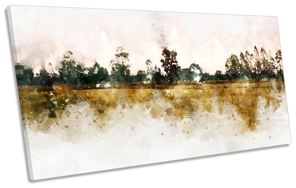 PAESAGGIO Marroneee Grunge panoramico a muro opera d'arte d'arte d'arte art print d0abbb
