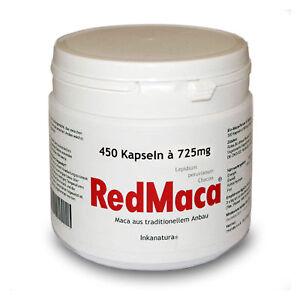 RED MACA KAPSELN 450 Stk. à 725mg CLASSIC Maca wurzel Kapseln aus Peru ! Rote