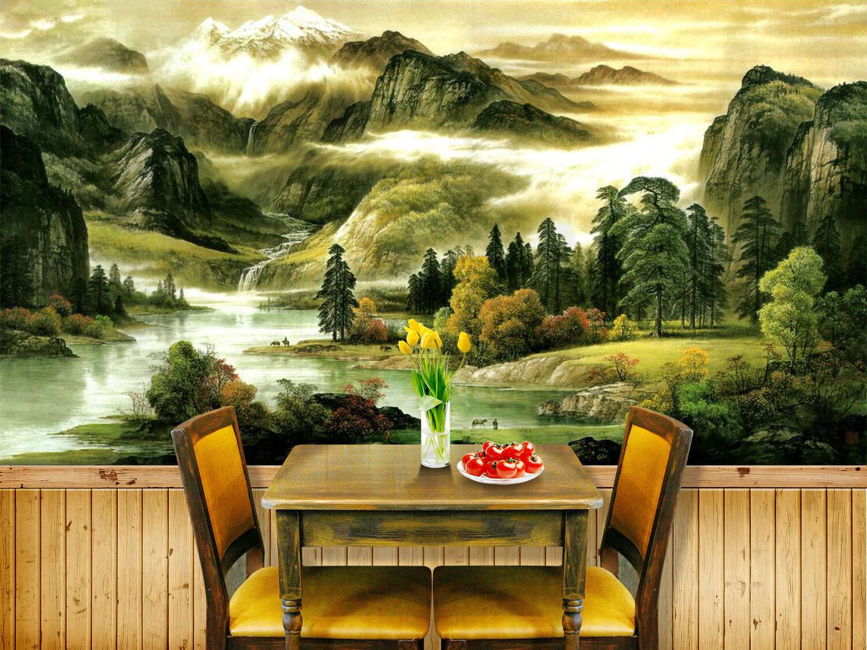 3D Mountain Cloud 949 Wallpaper Mural Paper Wall Print Wallpaper Murals UK