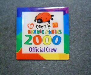 Group 2 Vintage McDonalds Red Bear Teenie Beanie Babies Enamel Lapel Pin 2000 Ty Inc