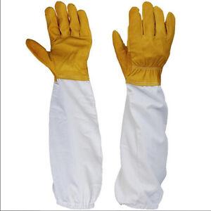 50cm-Apicoltura-protettiva-BeeKeeping-maniche-maniche-lunghe-Guanti-di-pelle-CRI