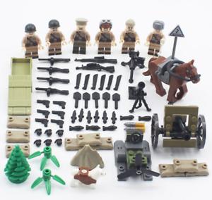 SET World War 2 UK British 8th Army North African Campaign Lego Toys Custom