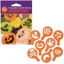 Halloween 8 Cupcake & Cookie Stencils from Wilton #499