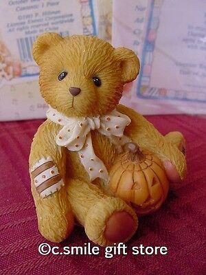 Cherished Teddies Halloween *OSCAR* Enesco 914843 MIB w/FREE BUTTON RARE!