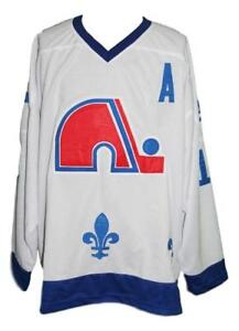 Any Name Number Size Quebec Nordiques Custom Retro Hockey Jersey White Sakic