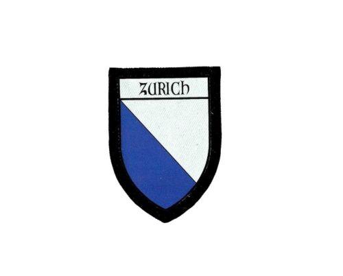 Patch printed embroidery travel souvenir shield city flag switzerland zurich