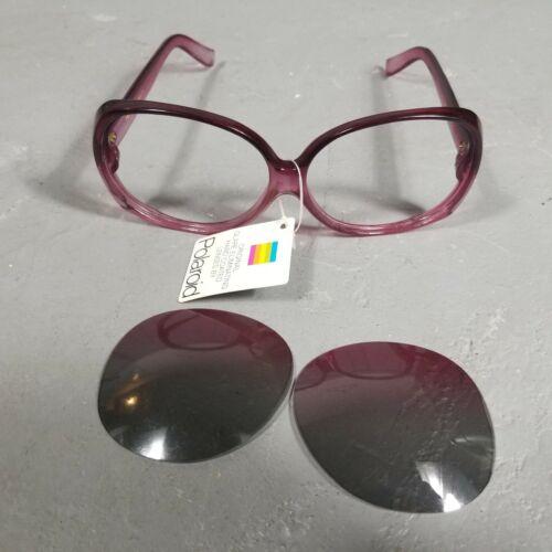 Vintage Polaroid Crown 80s Yellow Rim Party Sunglasses
