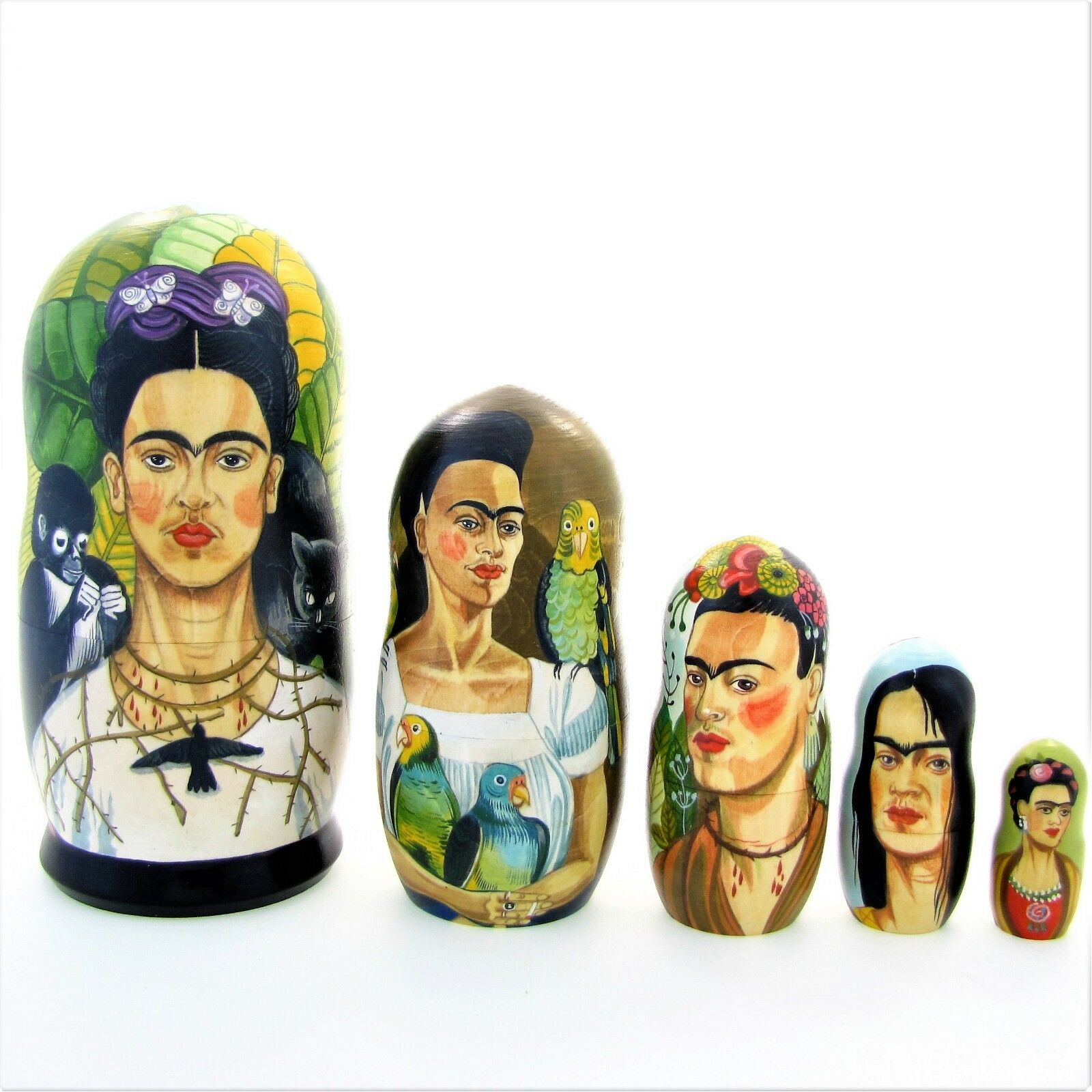 5 Poupées russes exclusive H19 Frida Kahlo Matriochka Russian Doll Matrioshka