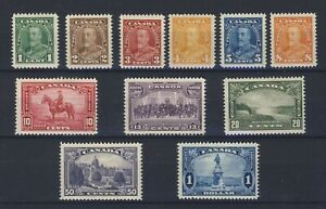 11x-1935-George-V-Pictorial-Mint-stamps-1c-1-00-217-to-227-GV-145-00