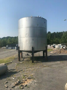 Stainless Steel Tank Approx. 7300 Gallons Not Counting Cone Good Condition Used