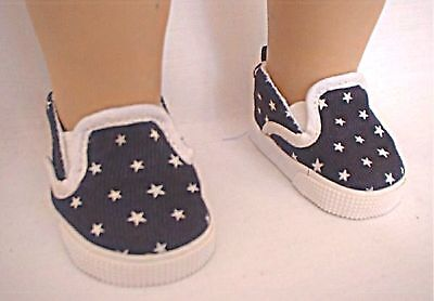 """Star Canvas Deck Shoes - Sized for American Girl® and other 18"""" dolls"""
