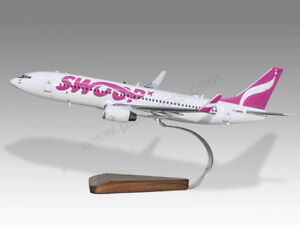 Boeing 737-800 Swoop Solid Kiln Dried Mahogany Wood Handmade Desktop Model Buy One Give One Collectables Transportation Collectables