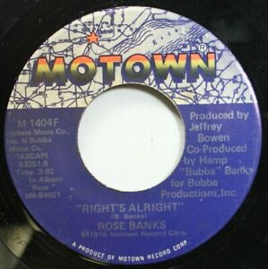 Soul 45 Rose Banks - Right'S Alright / Darling Baby On ...