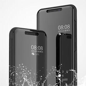 Per-Xiaomi-9-Lite-8-Mi-A2-Lite-Specchio-Clear-View-FULL-COVER-CUSTODIA-FLIP-SLIM-STAND